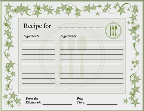 recipe card template recipe card template for word quintessence pleasurable