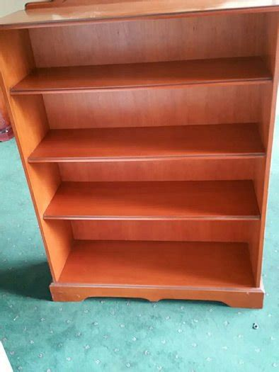 4 Ft Wide Bookcase by Wooden 4 Shelf 3 Foot Wide Bookcase For Sale In Naas