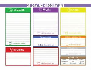 21 Day Fix Chart 21 Day Fix Meal Tracker And Grocery List Autumn Calabrese