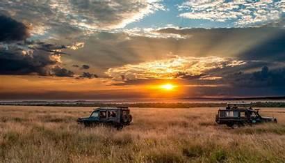 Sunset Safari Africa Sky Horizon Wallpapers Nature
