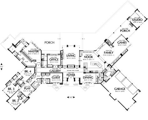 Modern House Plan with 5 Bedrooms and 5.5 Baths   Plan 6774