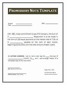 free promissory note template cyberuse With free promissory note template word document