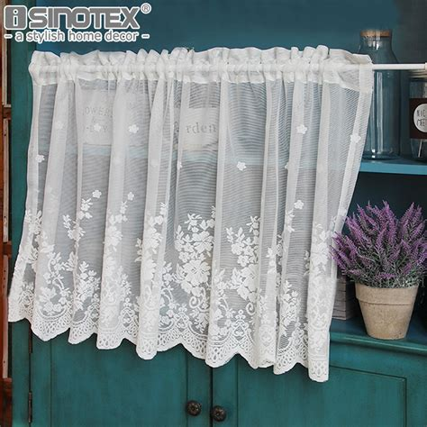 pastoral kitchen curtain fashion cafe floral polyester