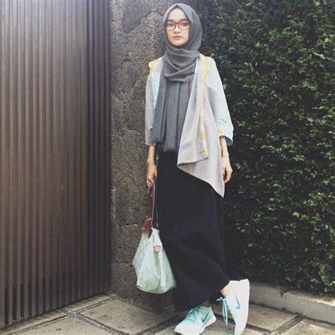 fashion hijab sederhana  membuatmu tetap menarik  kampus gaya berpakaian gaya busana