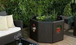 Mini Pool Für Balkon : das miniteich innere und die fische k nnen bei diesem beh lter aus rattan beobachtet werden ~ Sanjose-hotels-ca.com Haus und Dekorationen