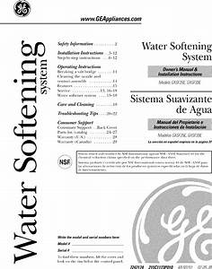 Ge Gxsf39e01 User Manual Water Softener Manuals And Guides