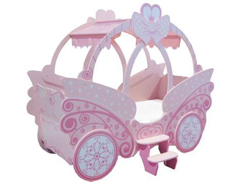 canape en solde lit enfant carrosse 90x190cm princesse option matelas