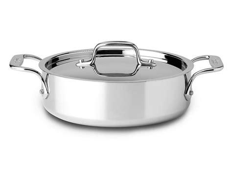 clad  stainless side sautecasserole pan  quart cutlery