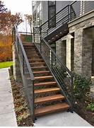 Outdoor Metal Handrails For Stairs by 25 Best Ideas About Exterior Stairs On Pinterest Steel Stairs House Entra