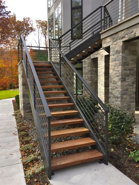25 best ideas about exterior stairs on steel