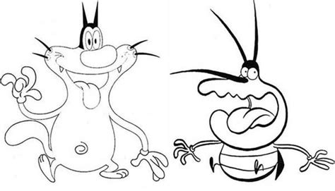 oggy meet dee dee  oggy   cockroaches coloring