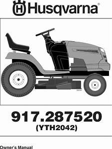 Husqvarna Lawn  Tractor Manual L0811870
