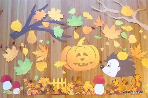 Herbst Baum Fenster by Fensterdeko Verscrappt De