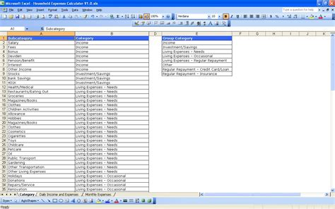 sample excel spreadsheet expense report template