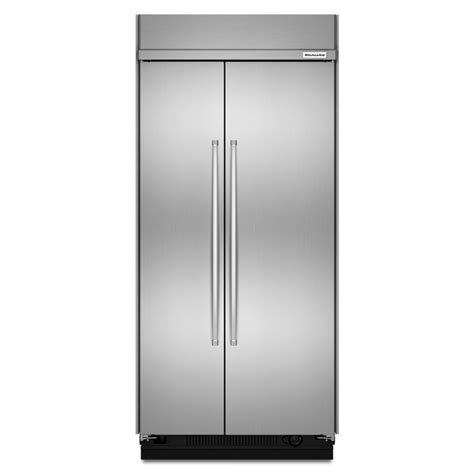 cabinet depth refrigerator shop kitchenaid 25 5 cu ft counter depth built in side by