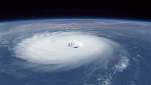 Hurricane: A Large Ominous Hurricane Rotating As Seen From ...