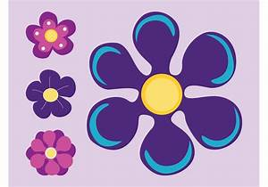 Purple Flowers - Download Free Vector Art, Stock Graphics ...