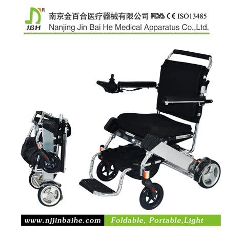 chaise roulante pliante légère fauteuil roulant électrique pliable en aluminium léger de