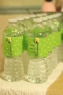 Cute Water Bottles Baby Shower Ideas