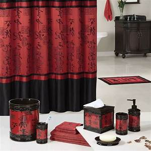 bathroom being different and brave with red bathroom With asian themed bathroom decor