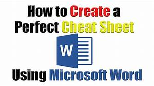 tutorial how to create the perfect cheat sheet using With how to use microsoft word