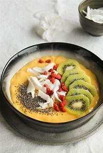 Petit Déjeuner Vegan : smoothie bowl mangue et lait de coco vegan sans gluten ~ Melissatoandfro.com Idées de Décoration