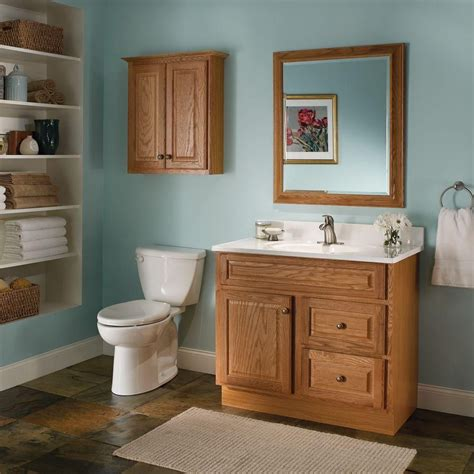 glacier bay hton 36 in w 21 in d 33 5 in h vanity cabinet only in oak hoa36d the