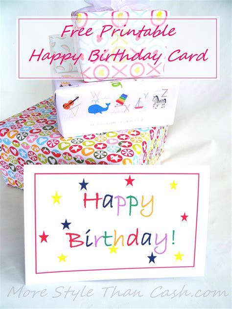 Birthday Card Photo by Free Printable Birthday Card