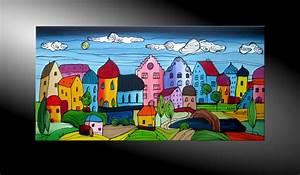 Moderne Kunst Leinwand : atelier mico city fantasies no 46 acryl malerei ~ Markanthonyermac.com Haus und Dekorationen