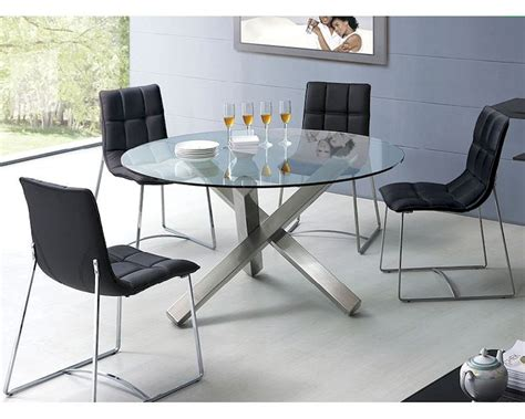 Glass Dining Table Sets by Modern Dining Set Glass Top Table European Design 33d231