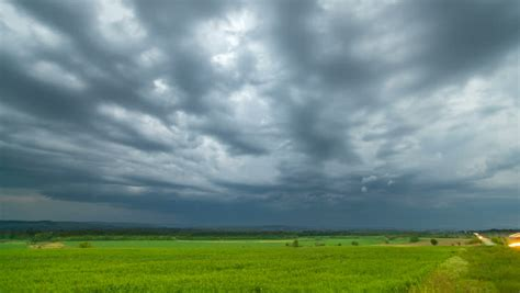 time lapse dramatic sky  wheat field spring cloudy