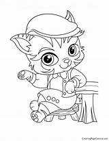 Coloring Pickles Whisker Haven Barnaby sketch template