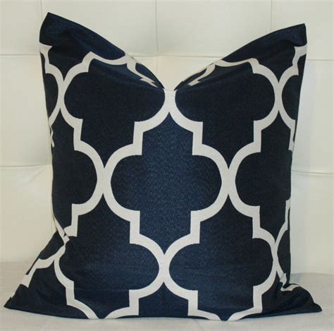 Navy Decorative Pillows by Navy Blue Quatrefoil Pillow Cover Contemporary