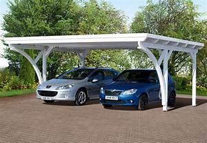 Garage 2 Voitures : carport 2 voitures toit plat ~ Melissatoandfro.com Idées de Décoration