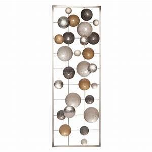 Deco Metal Mural : wanddeko aus gold und silberfarbenem metall 31x90 babel maisons du monde ~ Nature-et-papiers.com Idées de Décoration