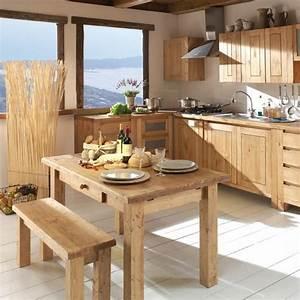 Meuble Cuisine Bois Naturel : la tendance du bois dans la maison notre s lection la cuisine pur et naturel d co ~ Melissatoandfro.com Idées de Décoration