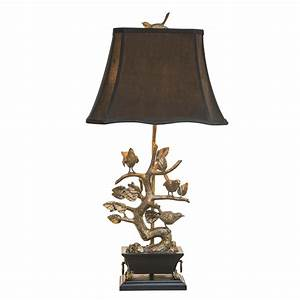 brass bird lamp by couture off the cape With bonsai tree floor lamp