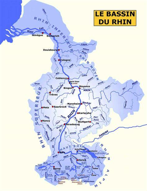 Carte Fleuve Rhin by Le Rhin