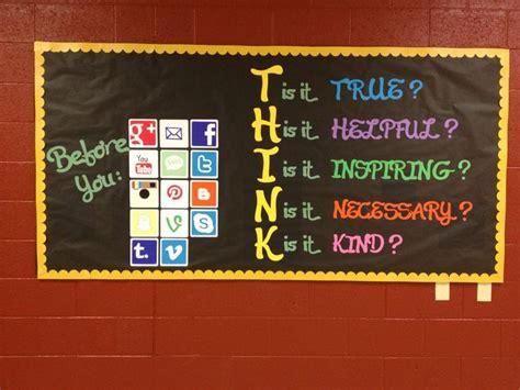 social media moral compass bulletin boards classroom