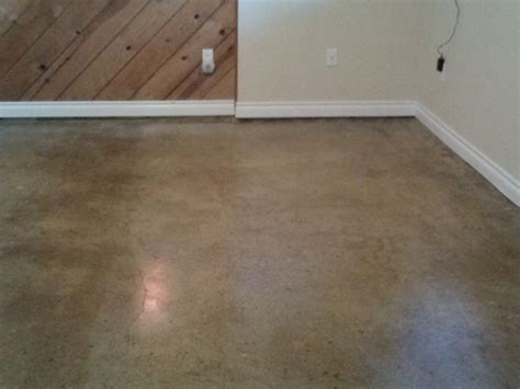 Water Based Floor Stain - concrete floors after 2 coats of sealer all water based