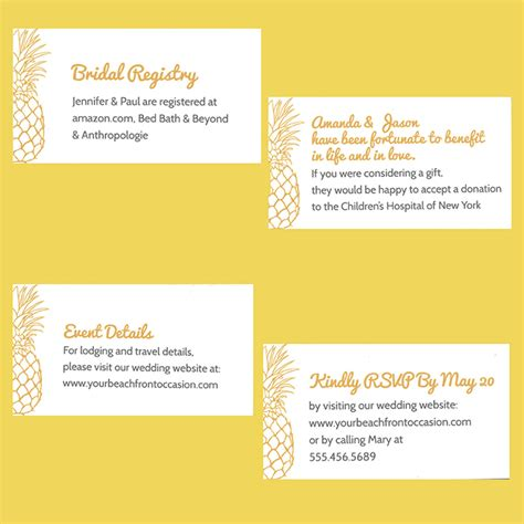 not registering for wedding wedding enclosure cards etiquette wording sizing