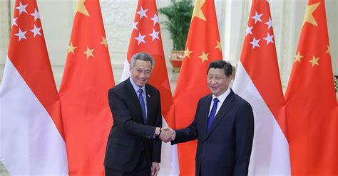 xi meets lee  singapore   store  chinas