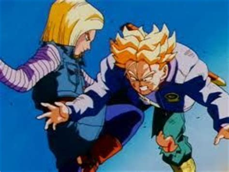 android   dragon ball  kicks trunks cartoons