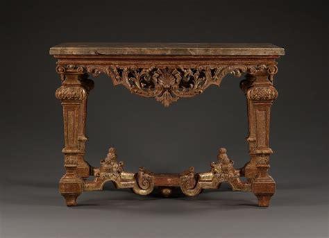 A Rare Baroque Giltwood Rectangular Table En Quatre Face