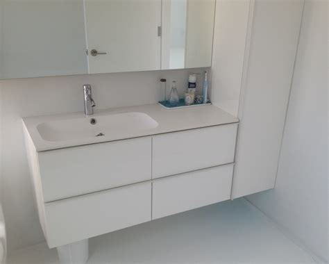 Ikea Godmorgon With Different Sink And Wall Cabinet