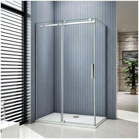 Glas duschkabinen werden aus einscheibensicherheitsglas (esg glas) gefertigt. Duschabtrennung Glas Faltbar Eckeinstieg 100X100 Bodeneinbau : 100 X 80 X 195 Cm Duschkabine ...