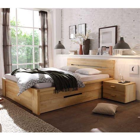 Holzbett 140x200 Mit Schubladen massives holzbett vergoma mit schubladen wohnen de