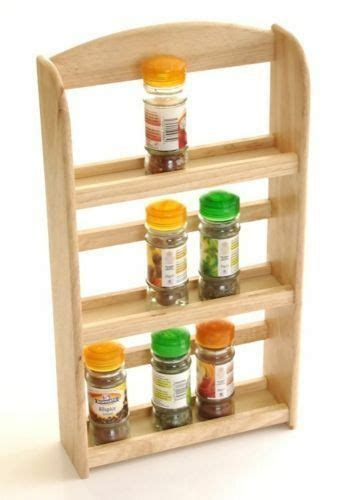 Spice Rack Buy by 3 Tier Rubber Wood Wooden Herb Spice Rack Holder Free
