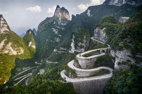 road roads dangerous most mountain china tianmen driving
