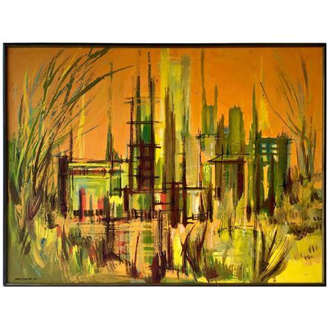 mid century abstract painting  eugene kloszewski chairish